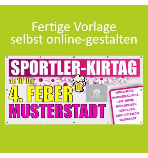 Banner online bestellen, Banner online gestalten, Transparente online bestellen, Transparente online gestalten, Kirtag