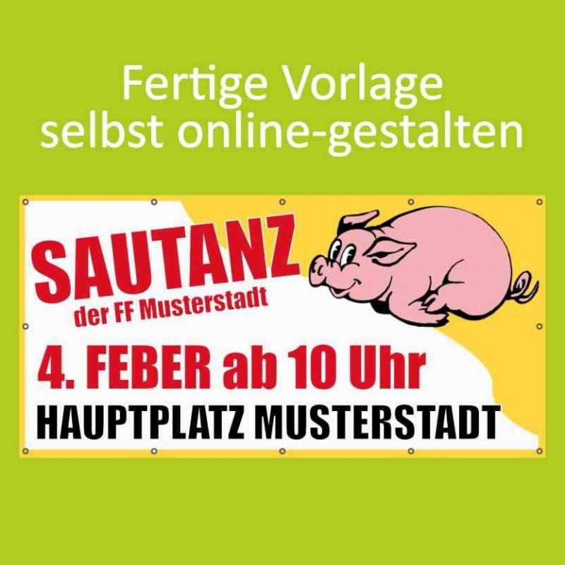 Banner online bestellen, Banner online gestalten, Transparente online bestellen, Transparente online gestalten, Sautanz