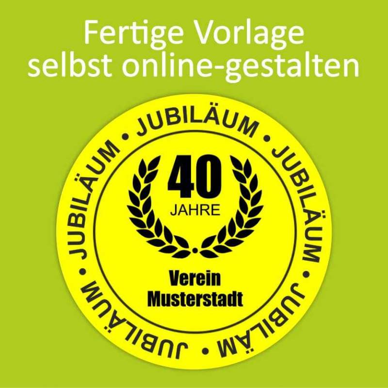 """Aufkleber NEON """"Jubiläum 3"""""""