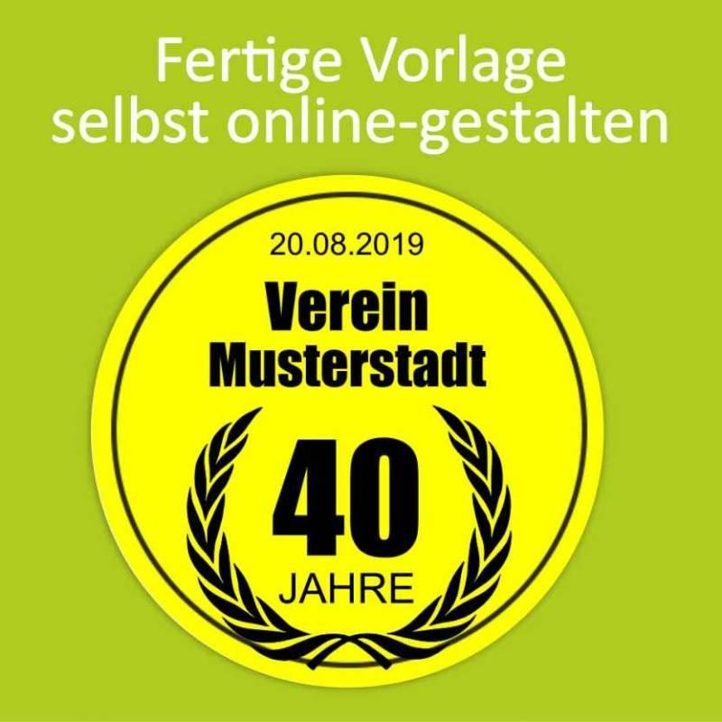 """Aufkleber NEON """"Jubiläum 2"""""""