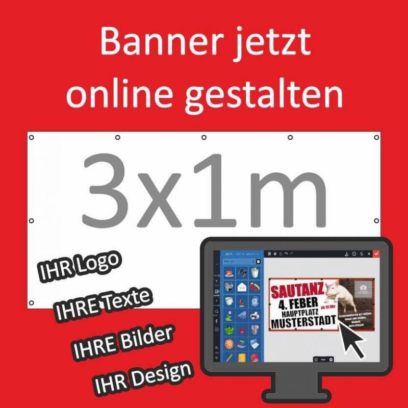 "Banner 3x1m ""Freies Design"""