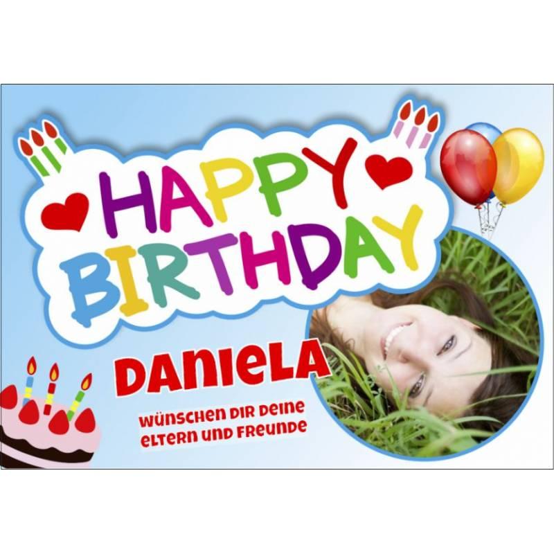 Geburtstagsbanner online bestellen