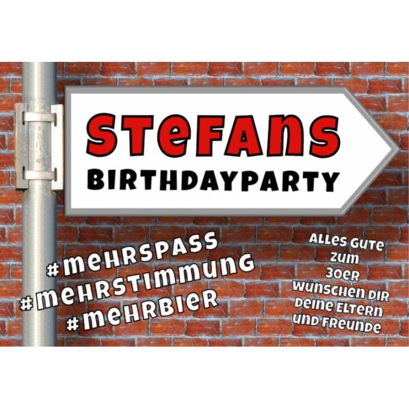 Geburtstagsbanner online bestellen Transparente Partybanner