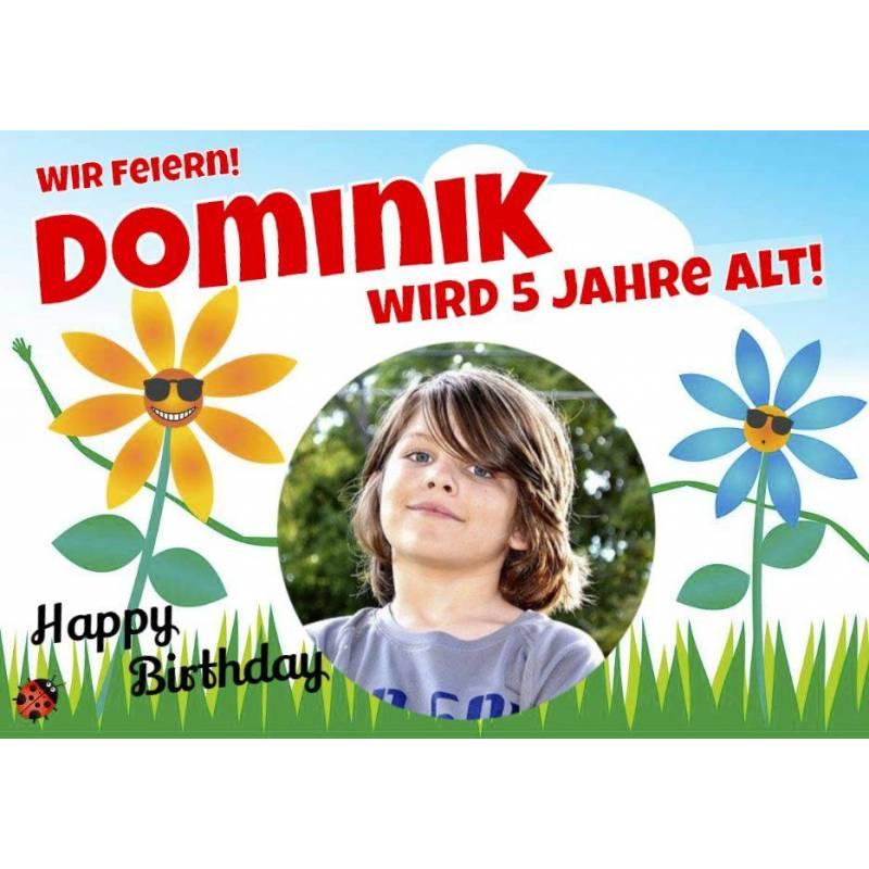 Geburtstagsbanner online bestellen Transparente Partybanner Kinderbanner