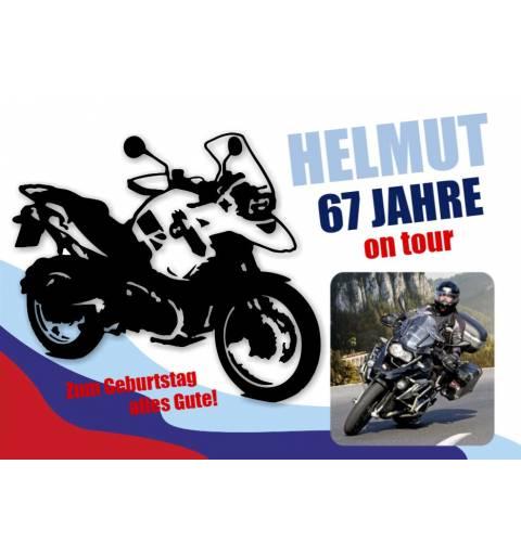 Geburtstagsbanner online bestellen Transparente Partybanner Motorrad Biker