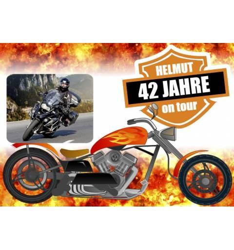 Geburtstagsbanner online bestellen Transparente Partybanner Biker Harley Motorrad