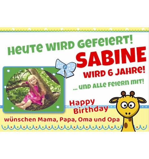 Geburtstagsbanner Banner für Geburtstag