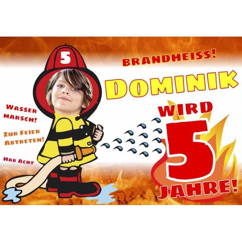 Geburtstagsbanner online bestellen Transparente Partybanner Feuerwehrbanner