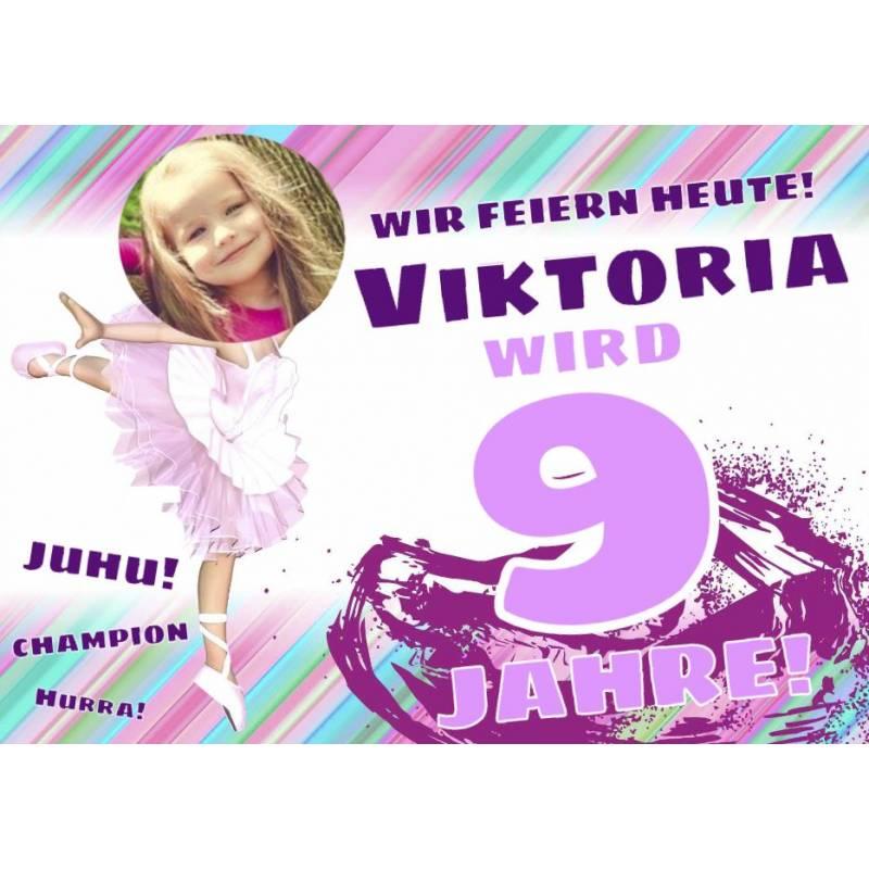 Geburtstagsbanner online bestellen Transparente Partybanner Ballerina