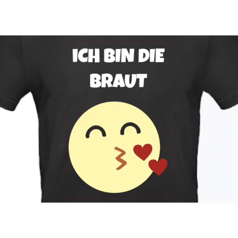 "Poltershirt ""SMILEY BRAUT"""