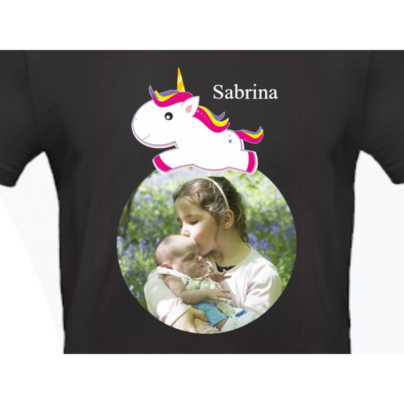 Fotogeschenke Einhorn Tshirt Textildruck Direktdruck Fotoshirt