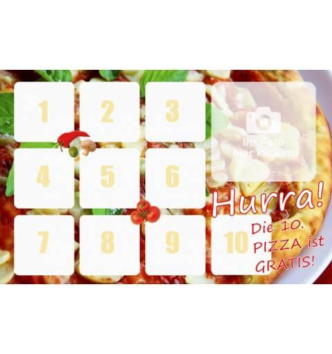 Pizzapass Bonuskarte Bonuspass Sammelpass Bierpass Stempelpass Kaffepass Treuepass