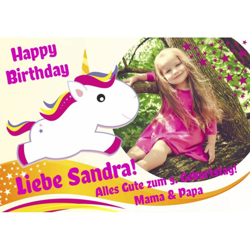 Geburtstagsbanner Einhorn Banner für Mädchen Partybanner