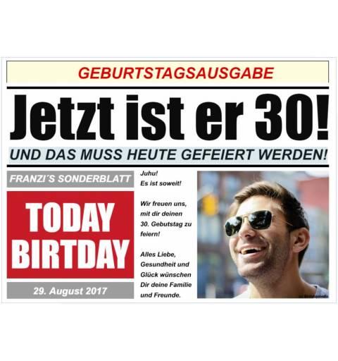 Geburtstagsbanner Banner für Geburtstags Zeitung
