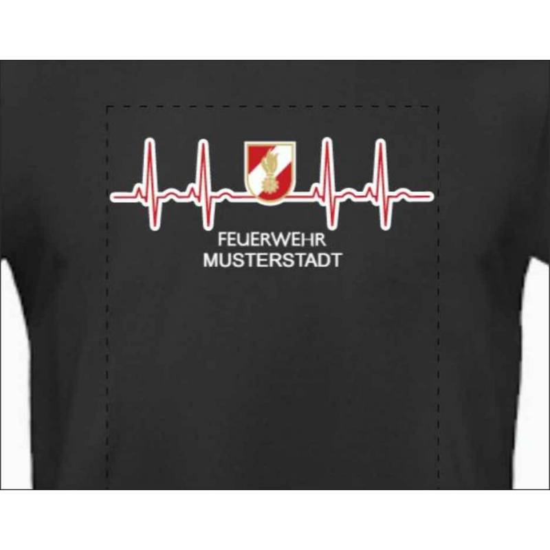 Feuerwehrshirt Feuerwehr T-Shirt Korpsabzeichen Puls
