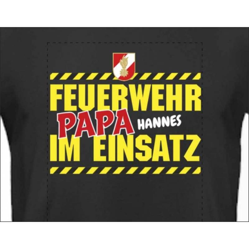 Feuerwehrshirt T-Shirt Feuerwehr Floriani personalisiert Vatertag