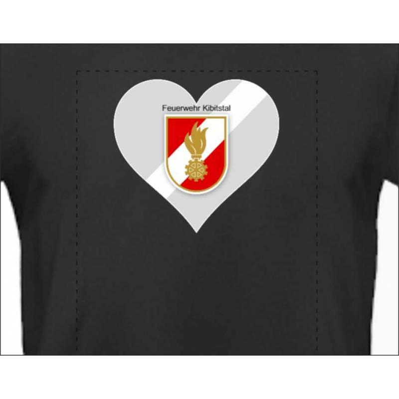 Feuerwehrshirt T-Shirt Feuerwehr Floriani personalisiert