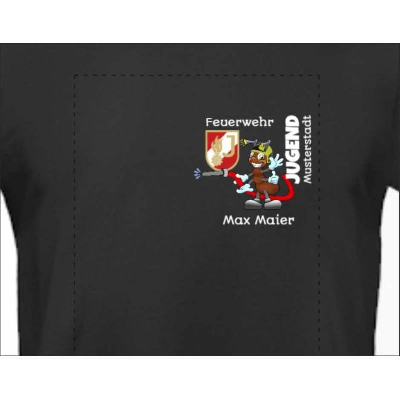 Feuerwehrshirt Tshirt Feuerwehr T-Shirt Feuerwehrjugend personalisiert