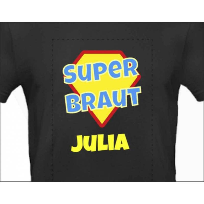 "Poltershirt ""Superbraut"""