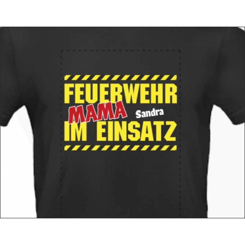 T-Shirt Feuerwehr Feuerwehrshirts für Frauen Feuerwehrmama