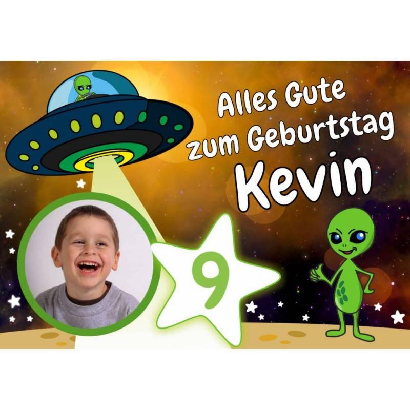 "Geburtstagsbanner ""Alien"""