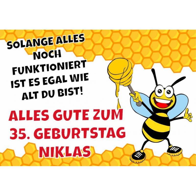 "Geburtstagsbanner ""Biene"""