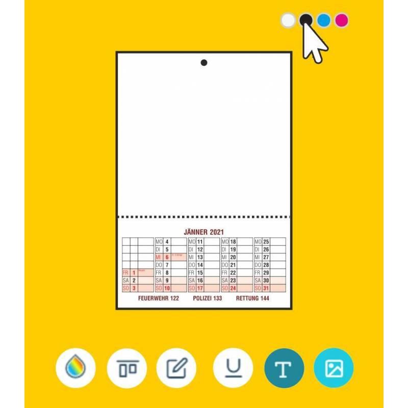Kalender online gestalten, Abrisskalender