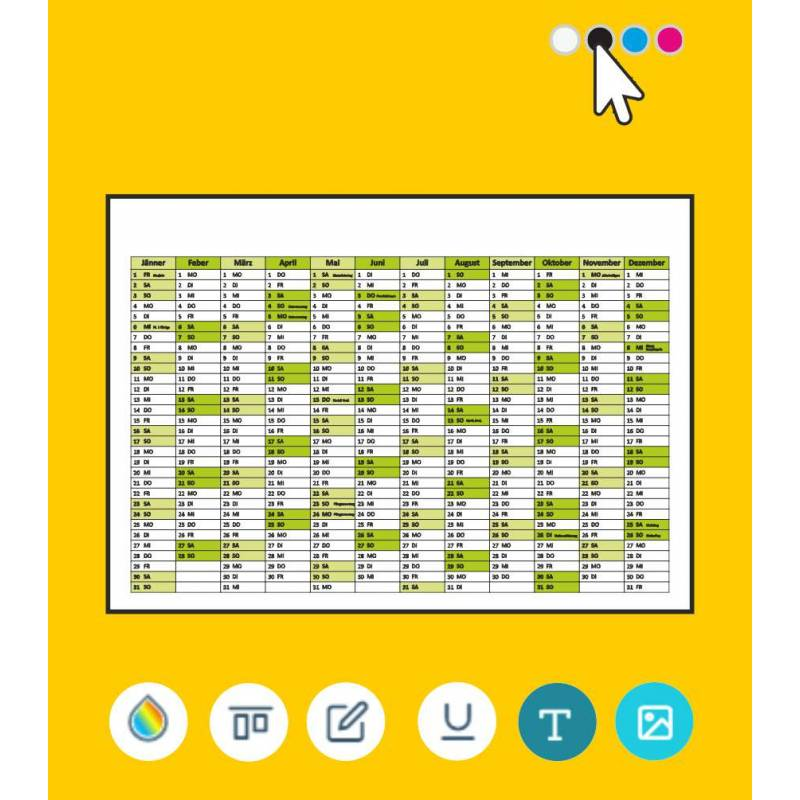 Wandkalender online bestellen