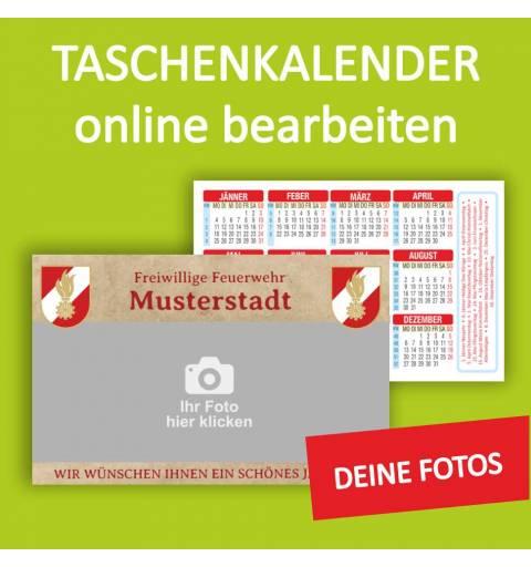 Taschenkalender Feuerwehrkalender Motivvorlage Kalender