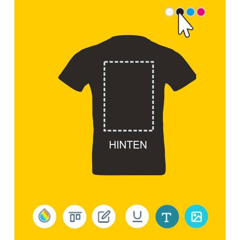 Shirt hinten bedruckt, Shirt online bestellen