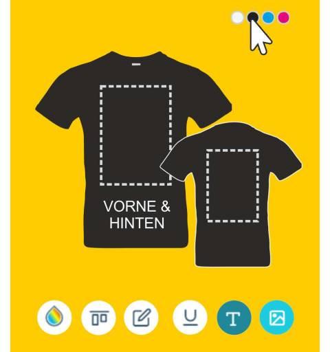 Shirt vorne bedruckt, Shirt online bestellen