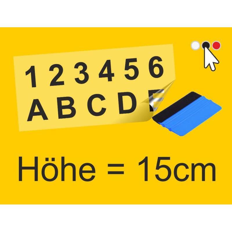 Klebe Zahlen & Buchstaben I...