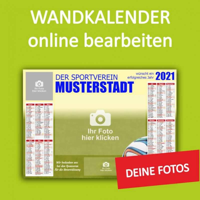 Wandkalender, Sportkalender, Vereinskalender, Kalender online gestalten, Kalender online bestellen, Kalendarium 2021