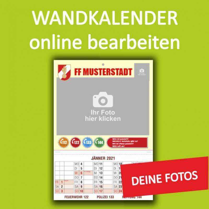 Feuerwehrkalender, Wandkalender, Kalender online gestalten, Kalender online bestellen