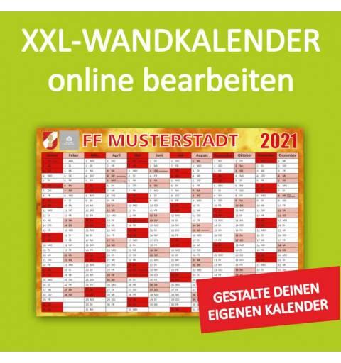 Wandkalender, Feuerwehrkalender, Kalender für Feuerwehr