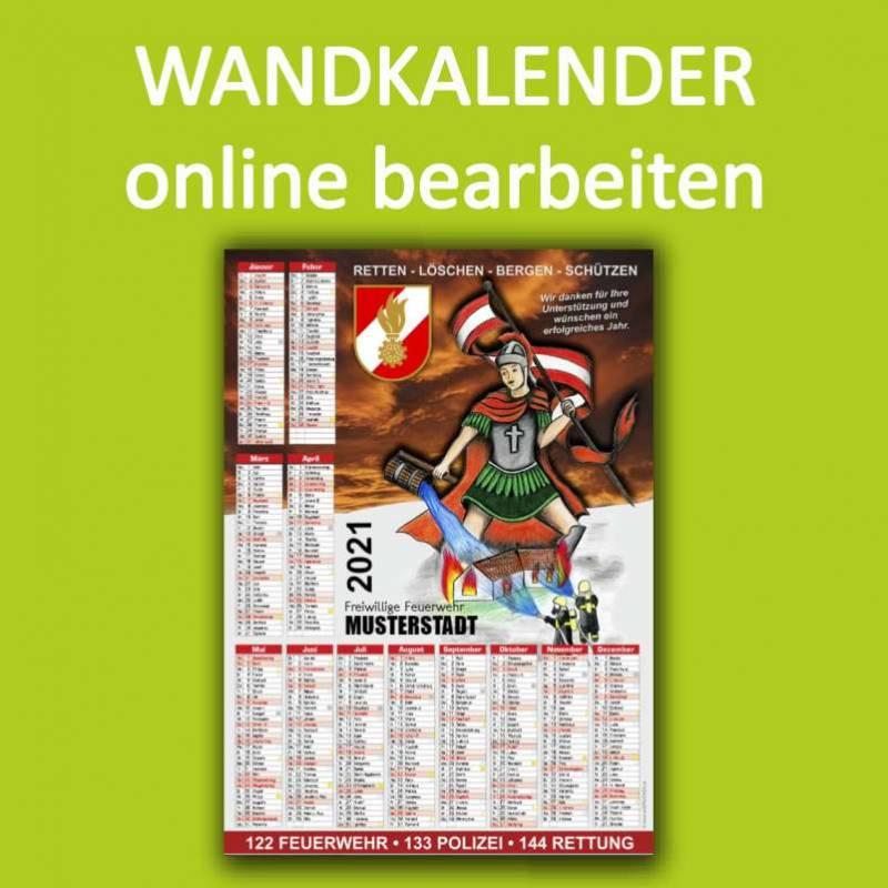 Feuerwehrkalender, Wandkalender, Kalender für Feuerwehr