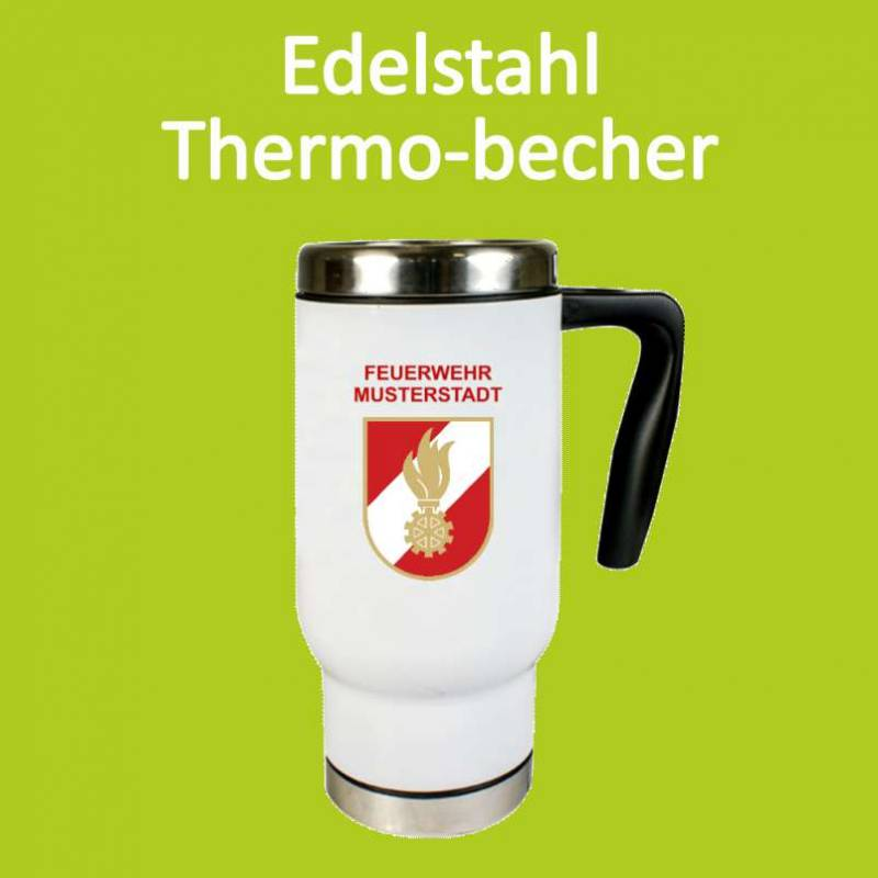 Thermotasse, Thermobecher, Feuerwehrwappen