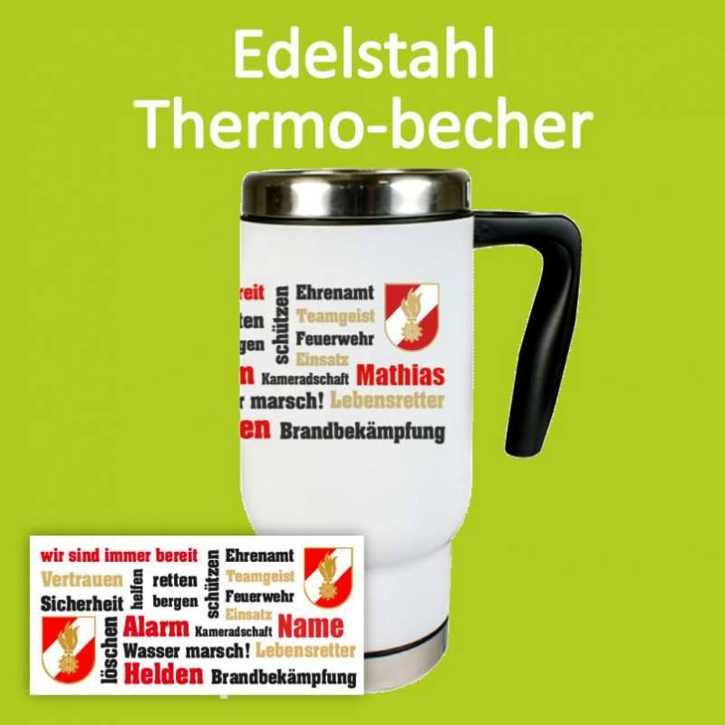 Thermotasse, Thermobecher, Feuerwehrtasse
