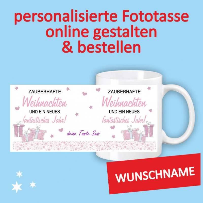 Fototasse, Fotogeschenke, Tasse mit Foto, Tasse mit Aufdruck, Weihnachtstasse