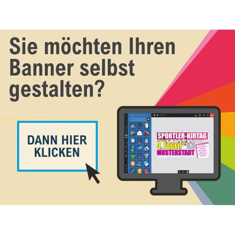 Banner online gestalten Transparent Banner für Feste