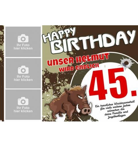 Banner Geburtstag, Geburtstagsbanner, Lustige Geburtstagsbanner, Banner zum Geburtstag, Geburtstag Jagd