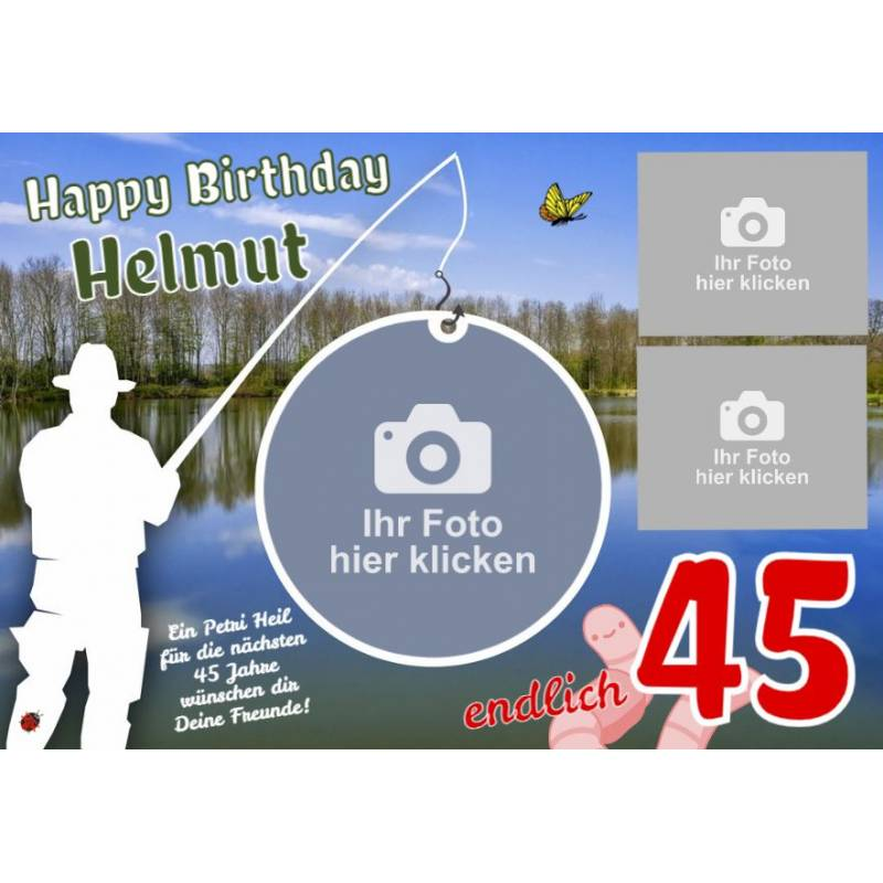 Banner Geburtstag, Geburtstagsbanner, Lustige Geburtstagsbanner, Banner zum Geburtstag, Geburtstag Fischen