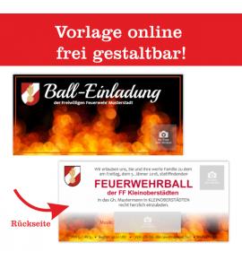 Einladung Balleinladung Feuerwehreinladung Karte