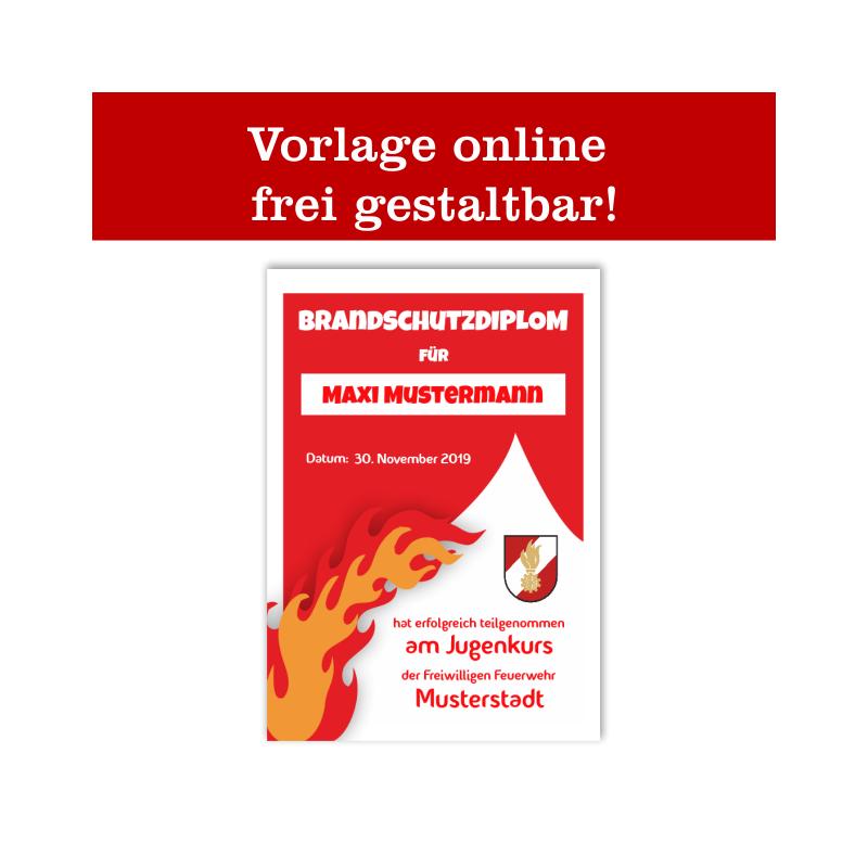 Ehrenurkunde, Feuerwehrurkunde, Urkunde für Feuerwehr, Jubiläumsurkunde