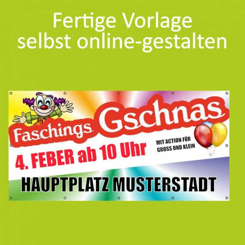 "Banner ""Fasching Clown"" 2x1m"