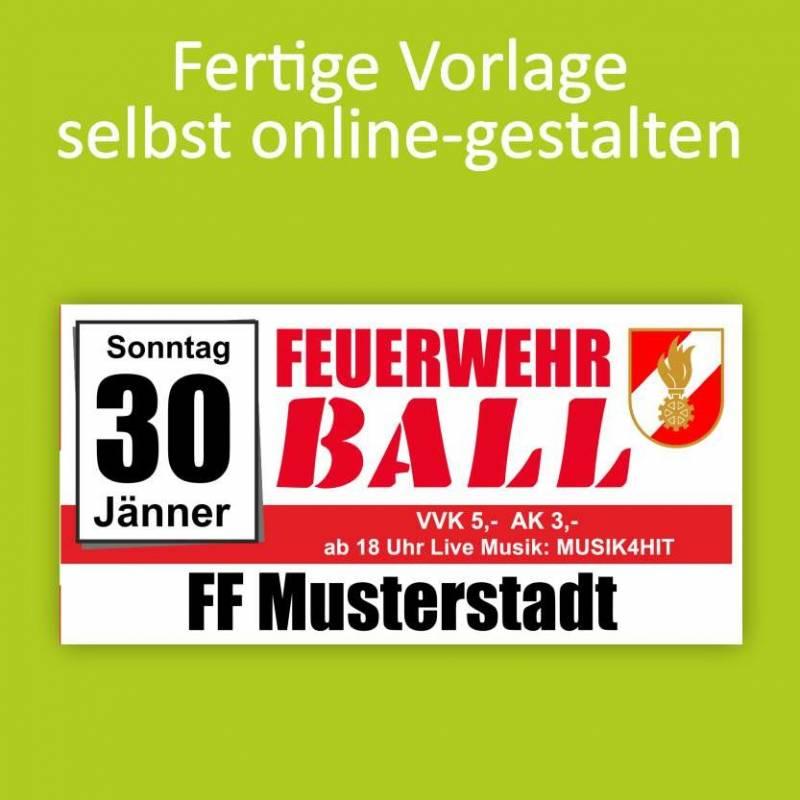 """Banner """"Feuerwehr Ball"""" 2x1m"""