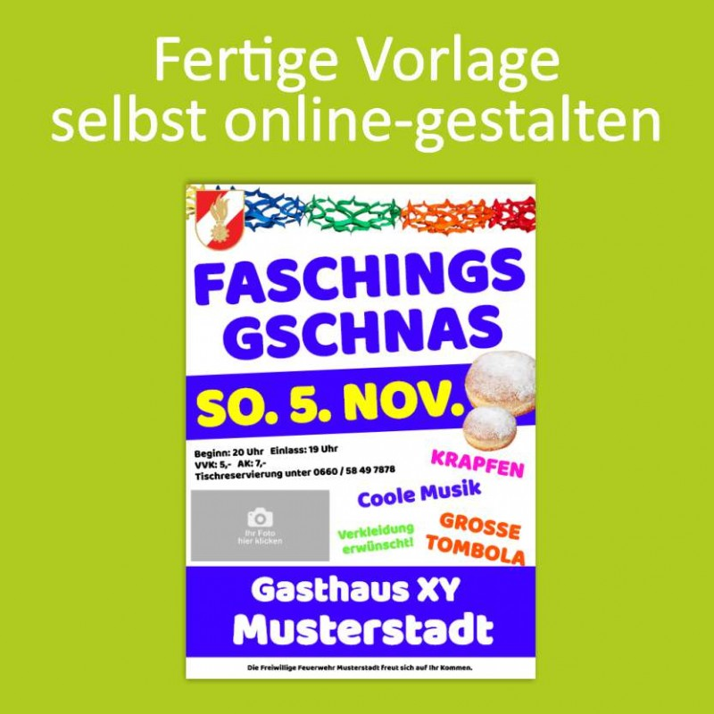 Flyer, Flugblätter, Motivvorlagen, Feuerwehrball, Flyer online gestalten, Flyer online bestellen