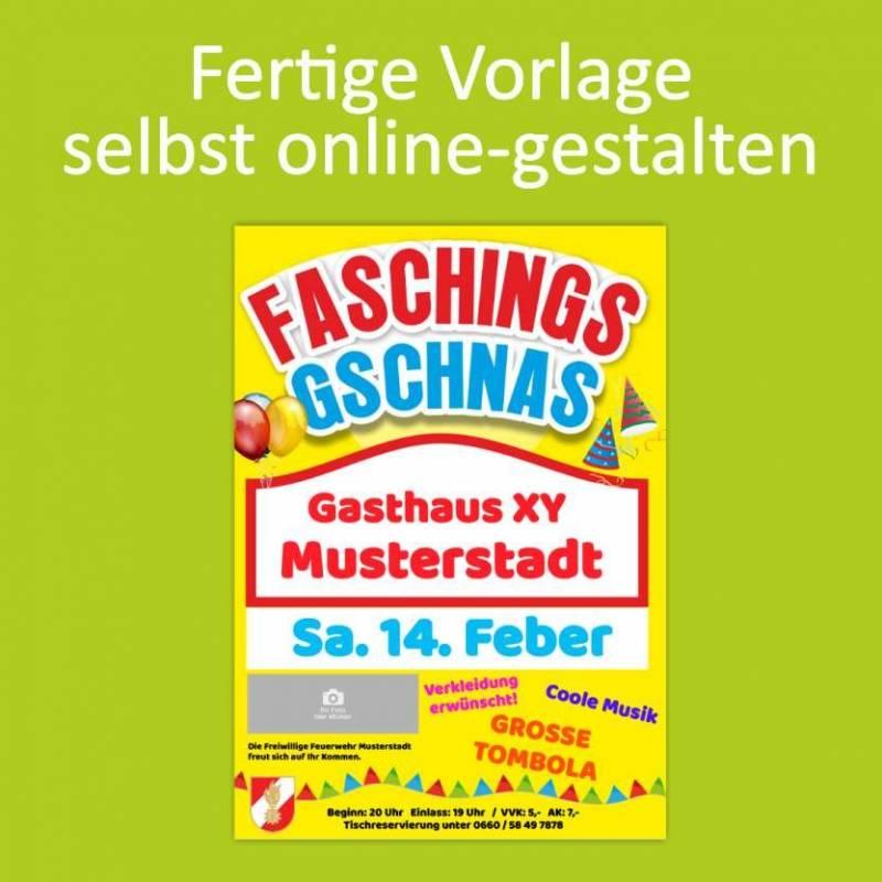 """Flyer Fasching """"Gschnas"""""""