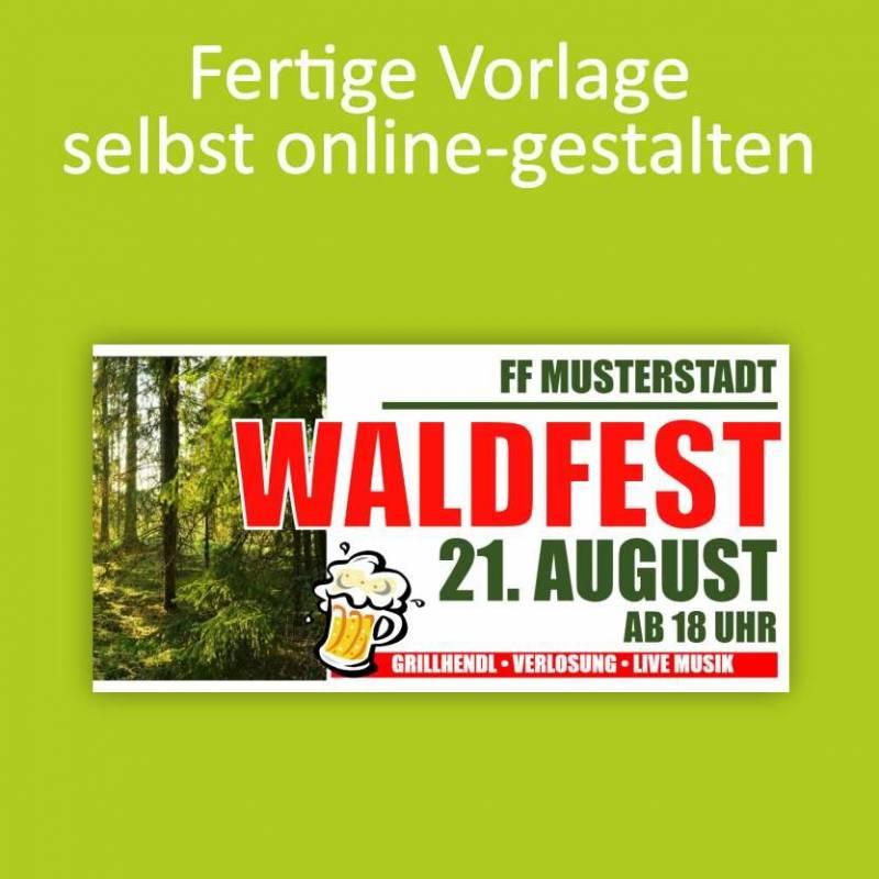 """Banner """"Waldfest"""" 2x1m"""