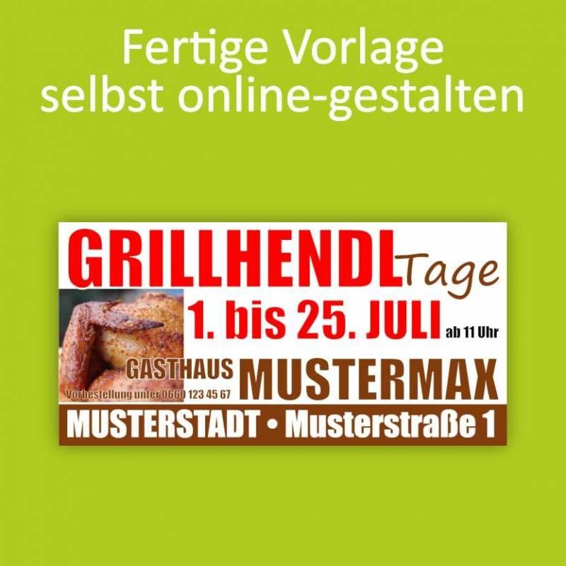 """Banner """"Grillhendl"""" 2x1m"""
